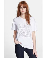 Marc By Marc Jacobs 'Light & Space' Graphic Tee - Lyst
