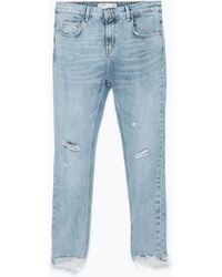 Zara Cigarette Jeans - Lyst