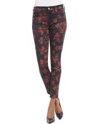 7 For All Mankind Rough Roses Skinny Jeans - Lyst