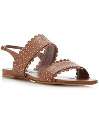 Tabitha Simmons Loopsey Perforated Leather Sandals brown - Lyst