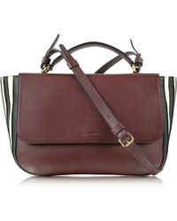 Sonia Rykiel Lucien Mahogany Large Leather Flap Bag - Lyst