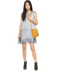 Madewell Lelou Swing Dress Heather Cloud - Lyst