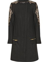 Day Birger et Mikkelsen - Night Vibrant Embellished Wool-Blend Coat - Lyst