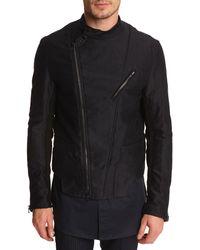 3.1 Phillip Lim Moto Cross Black Jacket - Lyst