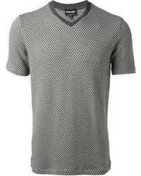 Giorgio Armani Blue Classic Tshirt - Lyst