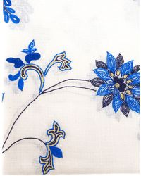 Janavi Embroidered Cashmere Scarf - Lyst