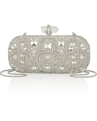 Marchesa Lily Embellished Mesh Box Clutch - Lyst
