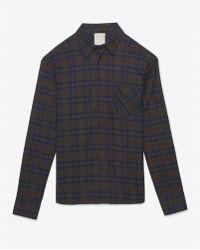 Billy Reid Walland Shirt brown - Lyst