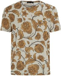 Burberry Prorsum Floral Print Tshirt - Lyst