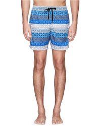 Danward Kaleidoscopic Print Nylon Swim Shorts - Lyst