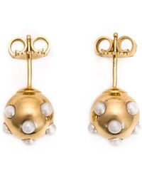 Nektar De Stagni - Pearl Embellished Stud Earrings - Lyst