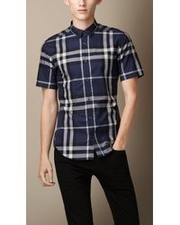 Burberry Exploded Check Cotton Shirt - Lyst