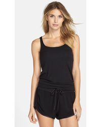 Midnight By Carole Hochman - Shelf Bra Tank - Lyst