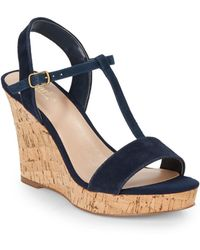 Charles by Charles David Libra Suede Wedge Sandals - Lyst