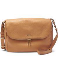 Fossil - Preston Flap Leather Bag - Lyst