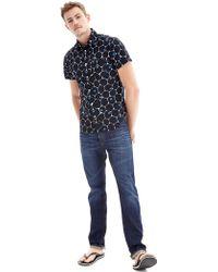 Gap Seersucker Honeycomb Dot Print Shirt blue - Lyst