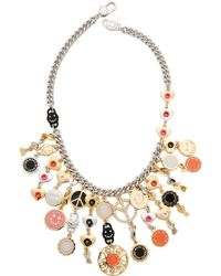 Marc By Marc Jacobs Happy House Statement Necklace - Mandarin Orange Multi - Lyst