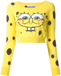 Moschino Spongebob Cropped Sweater - Lyst