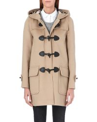 Burberry | Minstead Wool Duffle Coat Beige | Lyst