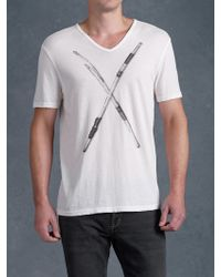 John Varvatos Busted Drumsticks Graphic Tee - Lyst