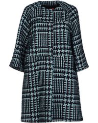 RED Valentino Blue Coat - Lyst