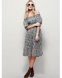 Free People | Womens Lily Fields Dress | Lyst