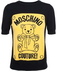 Moschino Teddy Bear Motif Knit Top - Lyst