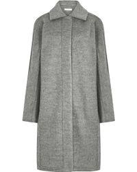 ADEAM - Grey Brushed Felt Coat - Lyst