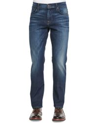 7 For All Mankind Luxe Performance Brett A-pocket Washed Obsidian Jeans - Lyst