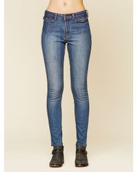 Free People Sadie High Rise Skinny - Lyst