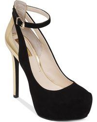 Jessica Simpson Ravenns Ankle Strap Platform Pumps - Lyst