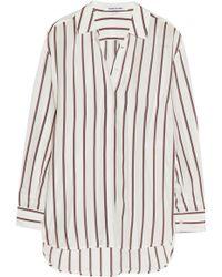 Elizabeth And James Sade Striped Silk Shirt - Lyst