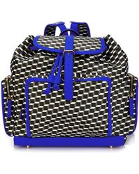 Pierre Hardy Cube-Print Coated-Canvas Backpack - Lyst