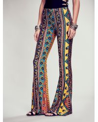 Free People Border Print Bell Bottoms - Lyst