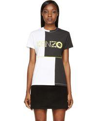 Kenzo Black and White Monster Logo T_shirt - Lyst