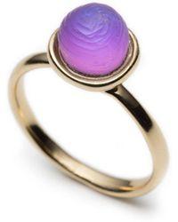 Alexis Bittar Lucite Mini Sphere Ring gold - Lyst