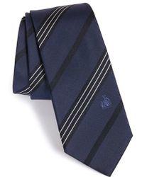 Lanvin - Stripe Silk Tie - Lyst