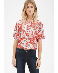 Forever 21 Abstract Watercolor Blouse Love 21 - Lyst