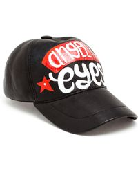 American Retro - Leather Baseball Cap - Lyst