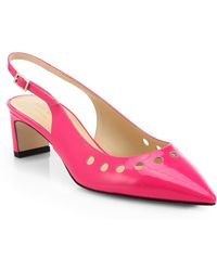 Kate Spade Stephany Patent Leather Slingback Pumps - Lyst