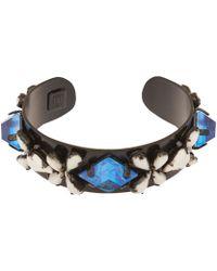 DANNIJO Silver Nellie Sapphire Cuff Bracelet - Lyst