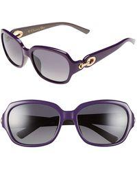 Dior Women'S Christian 56Mm Polarized Sunglasses - Violet - Lyst