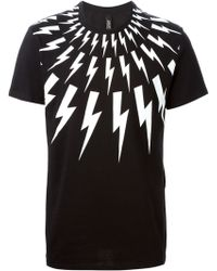 Neil Barrett Lightening Bolt T-shirt - Lyst