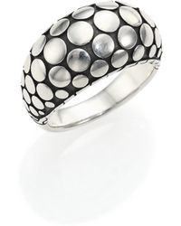 John Hardy | Dot Sterling Silver Dome Ring | Lyst