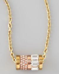 Michael Kors Barrel Pendant Necklace - Lyst