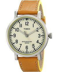 Timex® Originals Classic Round Leather Strap Watch - Lyst