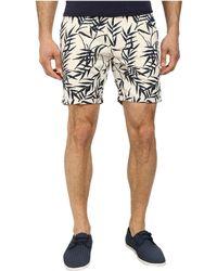Scotch & Soda Slub Printed Chino Shorts - Lyst