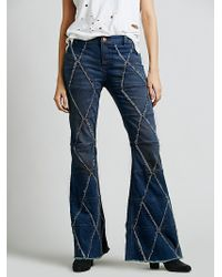 Free People Tyler Pieced Flare - Lyst