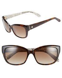 Kate Spade Kate Spade 'Johanna' 53Mm Retro Sunglasses - Lyst
