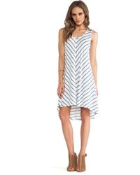 Lanston V Back Hi Lo Dress - Lyst